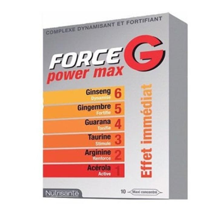 Nutrisante force g power max 10 ampoules x 10ml Nutrisanté-194679