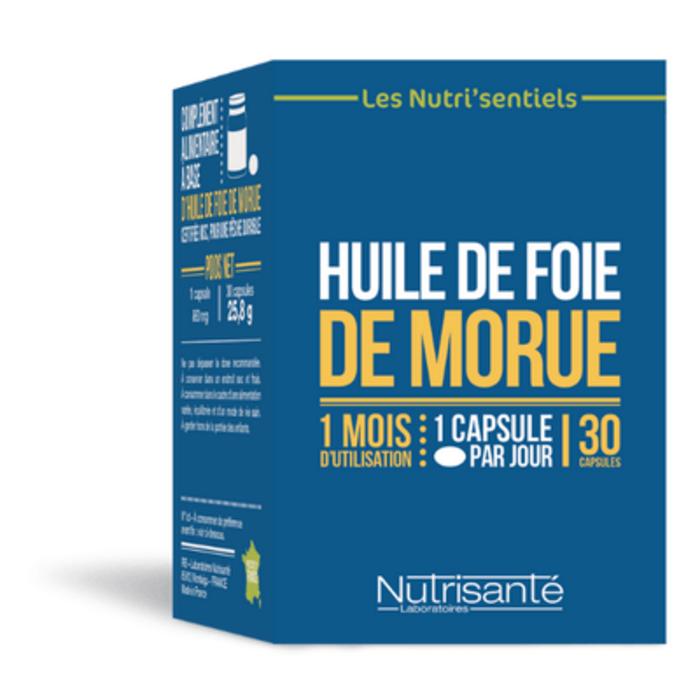 Nutrisante huile de foie de morue 30 capsules Nutrisanté-206563