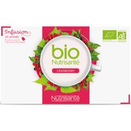 Nutrisante infusion bio cranberry 20 sachets - nutrisanté -201686