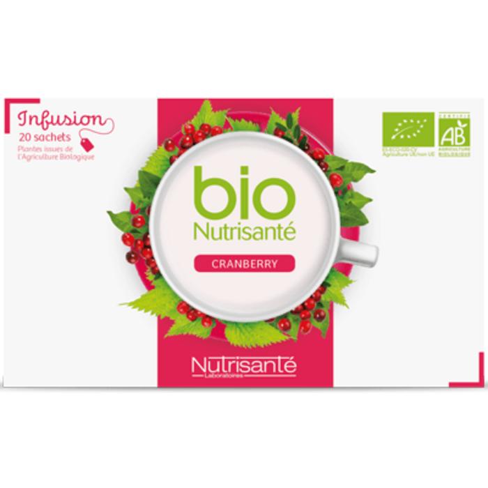 Nutrisante infusion bio cranberry 20 sachets Nutrisanté-201686