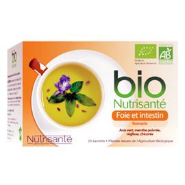 Nutrisante infusion bio foie intestin - 20 sachets - nutrisanté -194758