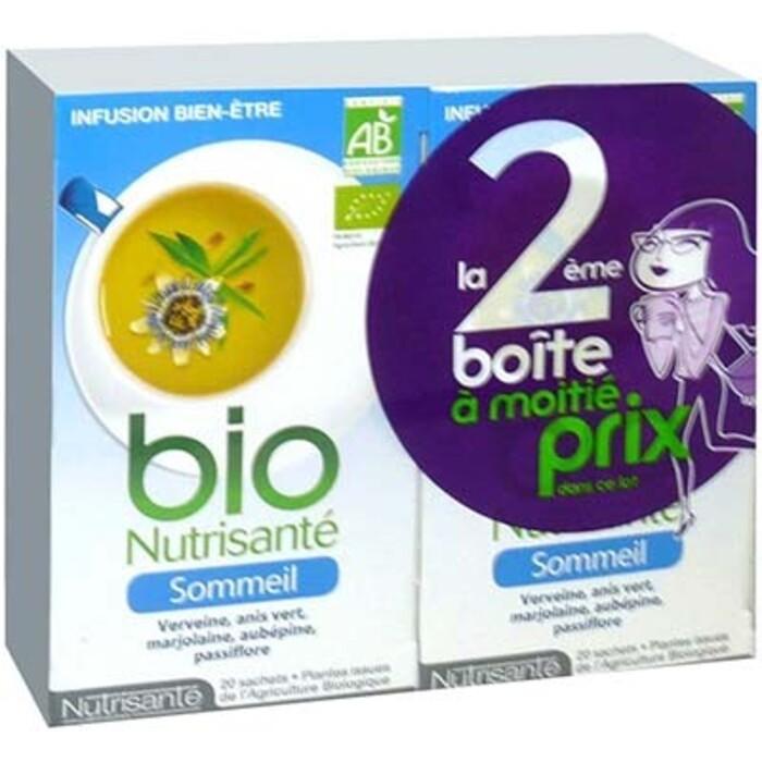 Nutrisante infusion bio sommeil - 2 x 20 sachets Nutrisanté-214074