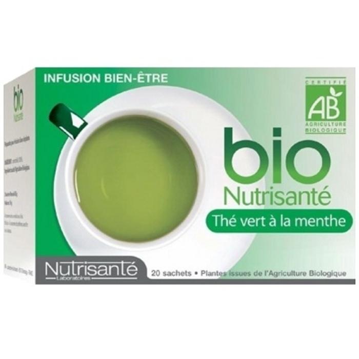 Nutrisante infusion bio thé vert à la menthe Nutrisanté-194773