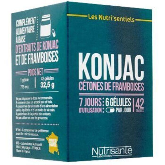 Nutrisante konjac cétones de framboise 42 gélules Nutrisanté-219598