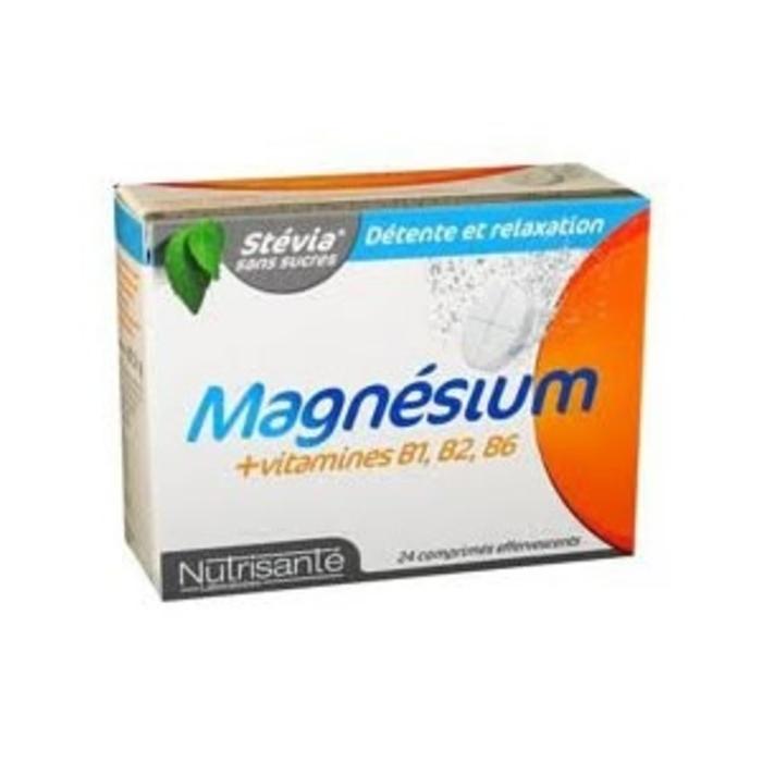 Nutrisante magnésium + vitamines b1 b2 b6 24 comprimés effervescents Nutrisanté-196159
