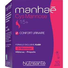 Nutrisante manhaé cys mannose 10 sticks - nutrisanté -226467