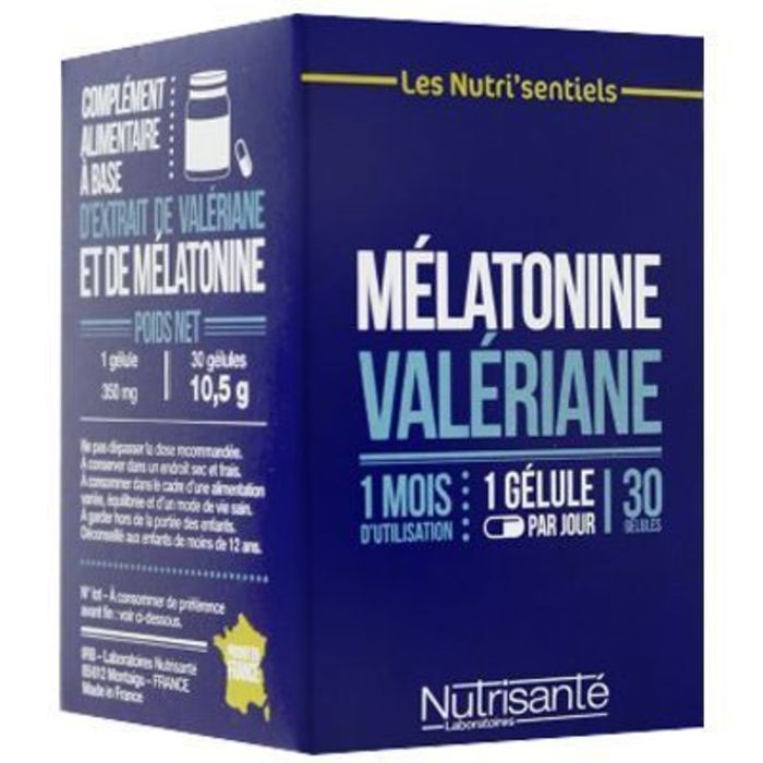 Nutrisante mélatonine valériane 30 gélules Nutrisanté-219600
