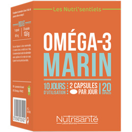 Nutrisante oméga 3 marin 20 capsules - nutrisanté -219601