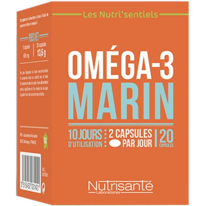 Nutrisante oméga 3 marin 20 capsules Nutrisanté-219601