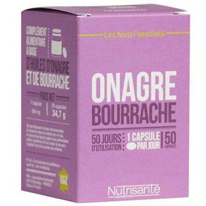 Nutrisante onagre bourrache 50 capsules Nutrisanté-219602
