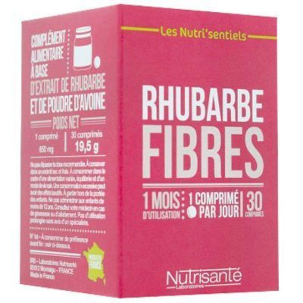 Nutrisante rhubarbe fibres 30 comprimés Nutrisanté-219603