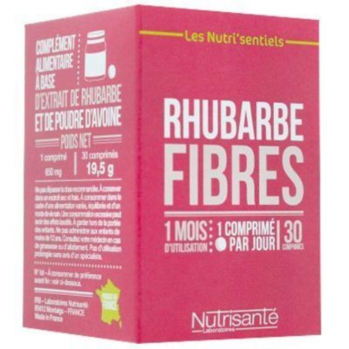 Nutrisante rhubarbe fibres 40 gélules Nutrisanté-219603