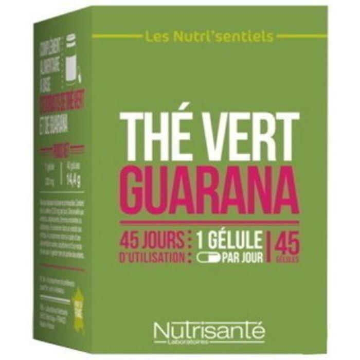 Nutrisante thé vert guarana 45 gélules Nutrisanté-219604