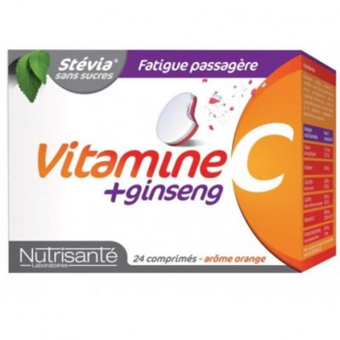 Nutrisante vitamine c ginseng 24 comprimés à croquer Nutrisanté-196153