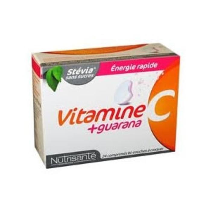 Nutrisante vitamine c guarana 24 comprimés à croquer Nutrisanté-196154
