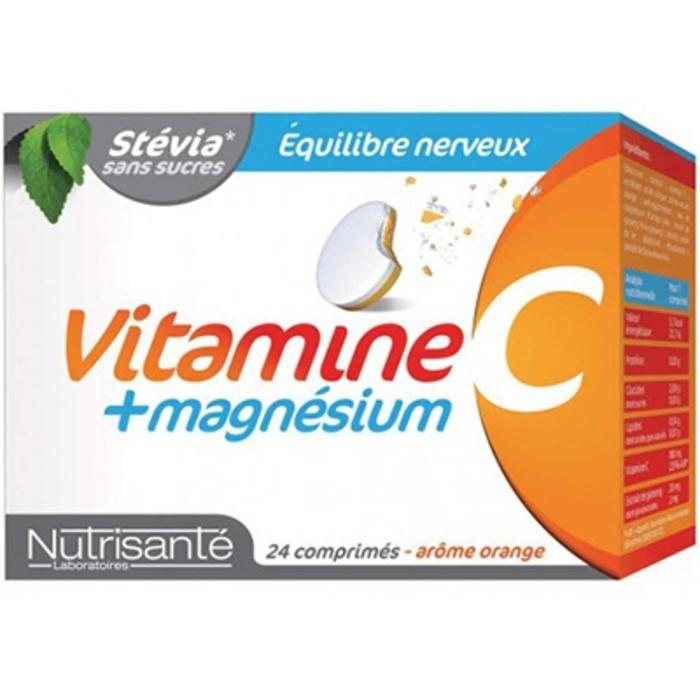 Nutrisante vitamine c + magnésium 24 comprimés à croquer Nutrisanté-196156