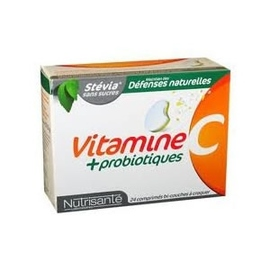 Nutrisante vitamine c + probiotiques 24 comprimés à croquer - nutrisanté -148316