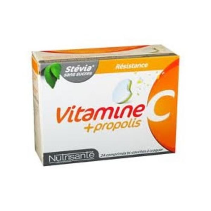 Nutrisante vitamine c + propolis 24 comprimés à croquer Nutrisanté-196155