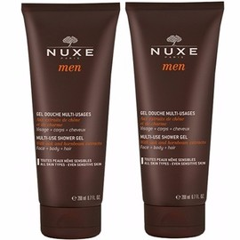 Nuxe men gel douche multi-usages 2x200ml - nuxe -214480
