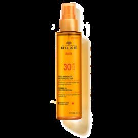 Nuxe sun huile bronzante visage et corps spf30 150ml - nuxe -144476