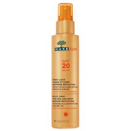 Nuxe sun spray lacté visage et corps spf20 - 150.0 ml - nuxe -145064