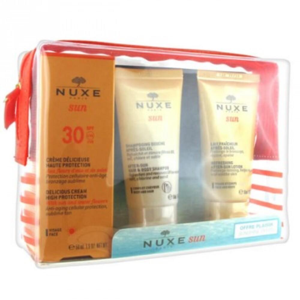 Nuxe sun trousse crème spf30 50ml + shampooing 50ml + après-soleil 50ml - nuxe -213898