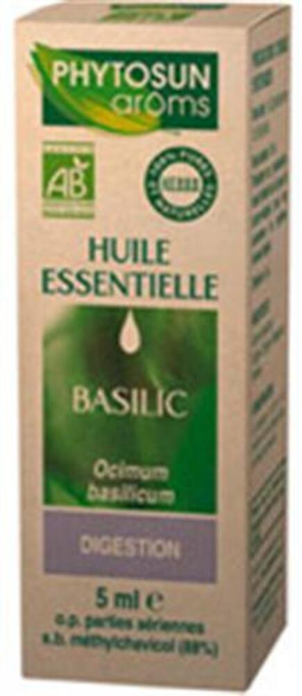 Ocimum basilicum (basilic) bio - 5.0 ml - huiles essentielles hebbd bio - phytosun arôms Digestion-11765