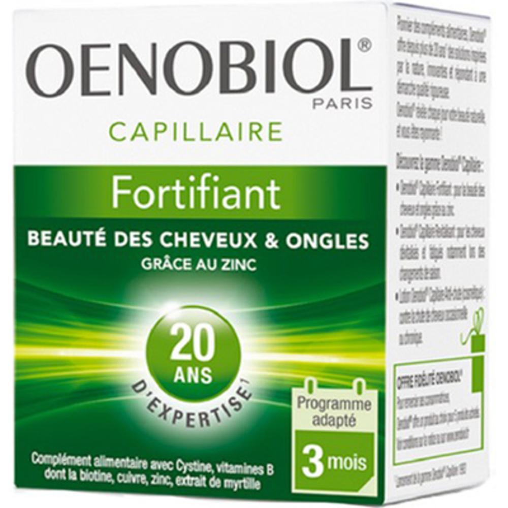 Oenobiol fortifiant beauté des cheveux & ongles 60 comprimés - oenobiol -222866