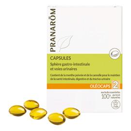 Oléocaps 2 sphère gastro-intestinale & voies urinaires 30 capsules - pranarom -148300