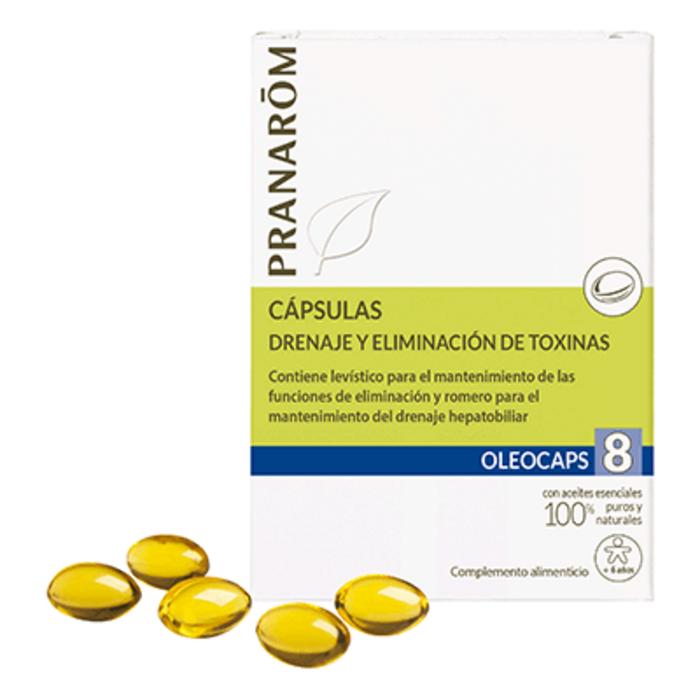 Oléocaps 8 drainage & détoxination 30 capsules Pranarom-189863
