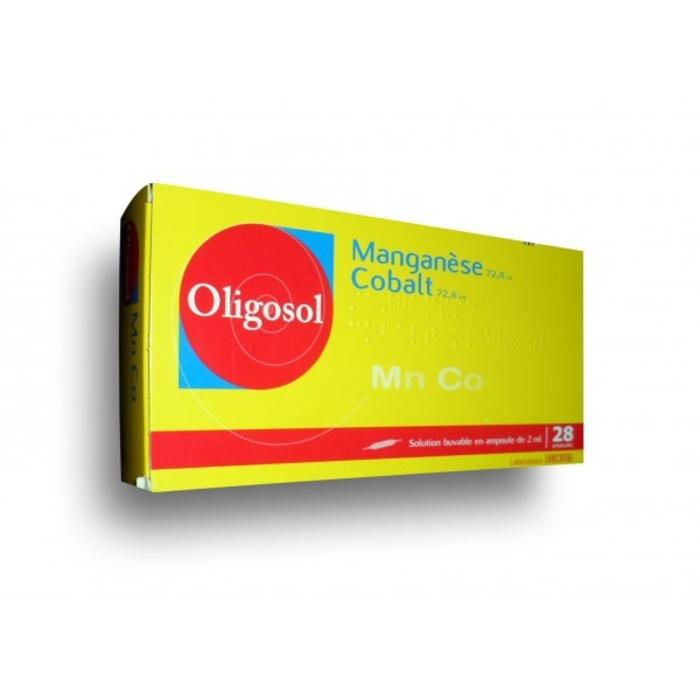 Oligosol manganese cobalt - 28 ampoules x Labcatal-192726