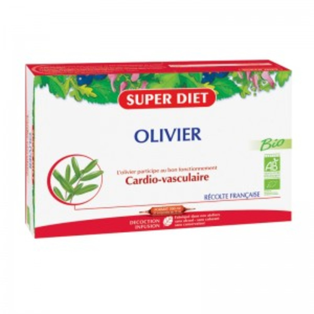 Olivier ampoules bio - 20.0 unites - circulation - super diet Bien-être circulatoire-4458
