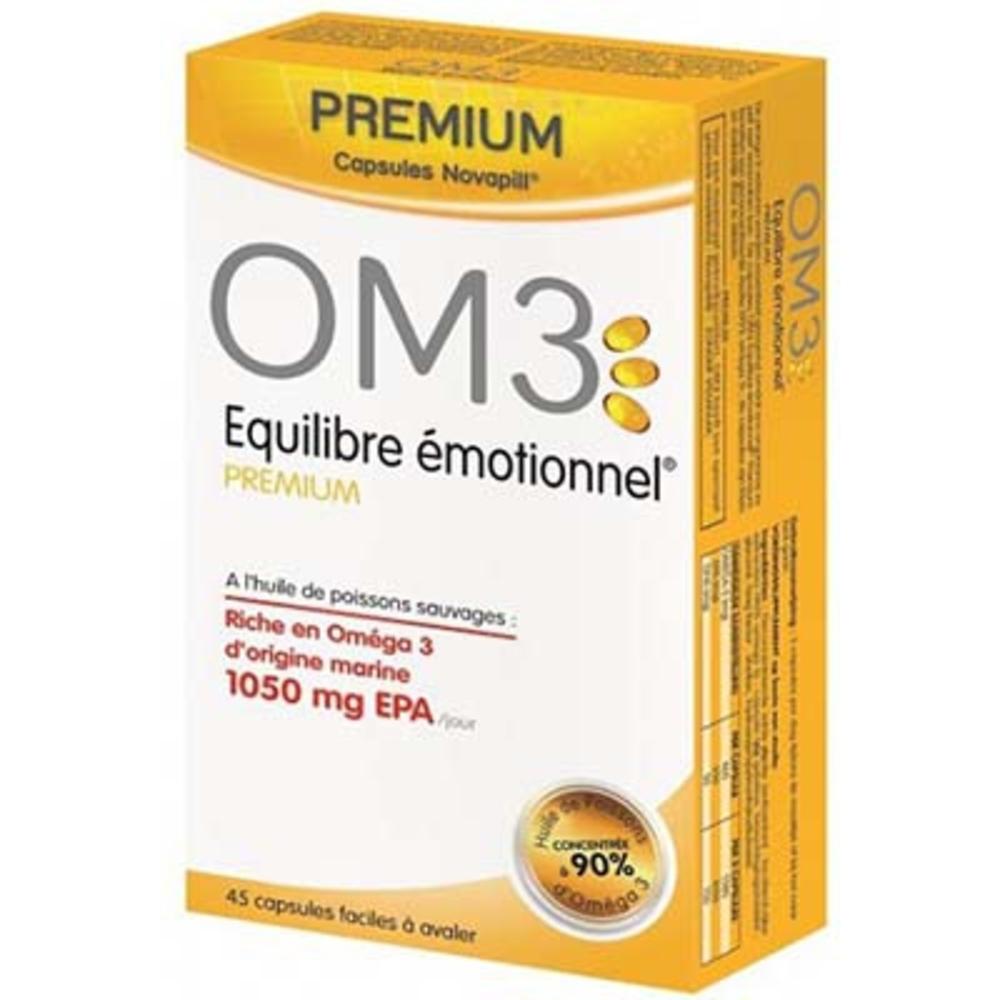 Om3 equilibre emotionnel premium - 45 capsules Om3-140164
