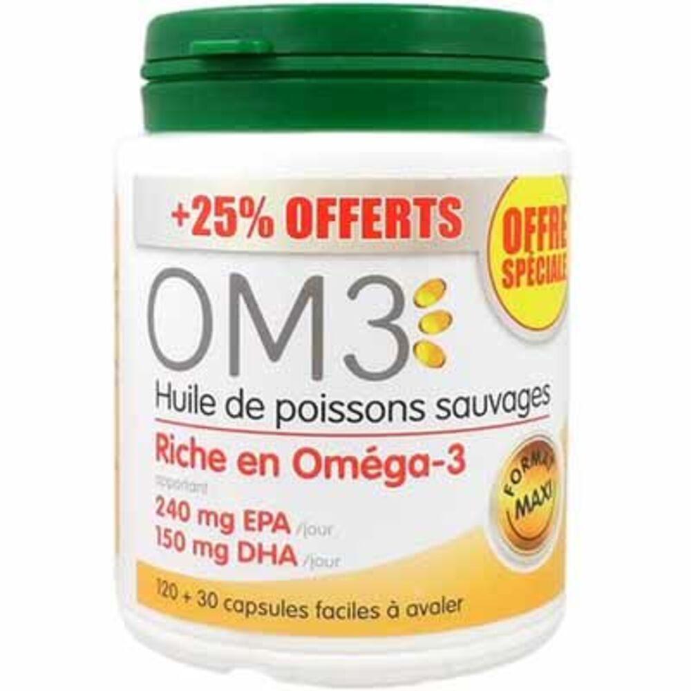 Om3 huile de poissons 120 capsules + 30 offertes - om3 -223599