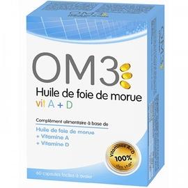 Om3 huile foie de morue + vitamines a et d - 120 capsules - om3 -206078