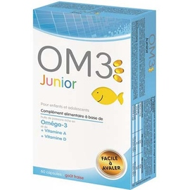Om3 junior oméga 3 enfants et adolescents - 60 capsules - 60.0 unites - divers - om3 -140162