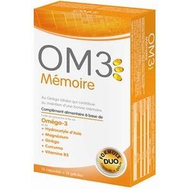 Om3 mémoire formule duo - 15 capsules + 15 gélules - om3 -205950