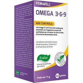 Omega 3.6.9 age contrôle 45 gélules - evalar -226078
