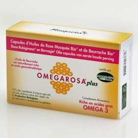 Omegarosa plus (+bourrache) - 60.0 unites - huiles et capsules de rose musquée - eumadis mosquetas -4952