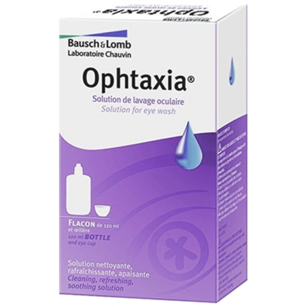 Ophtaxia solution de lavage oculaire - 120ml - 120.0 ml - bausch & lomb -190830
