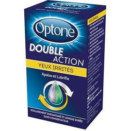 Optone double action yeux irrités 10ml - optone -225287