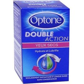 Optone double action yeux secs 10ml - optone -225286
