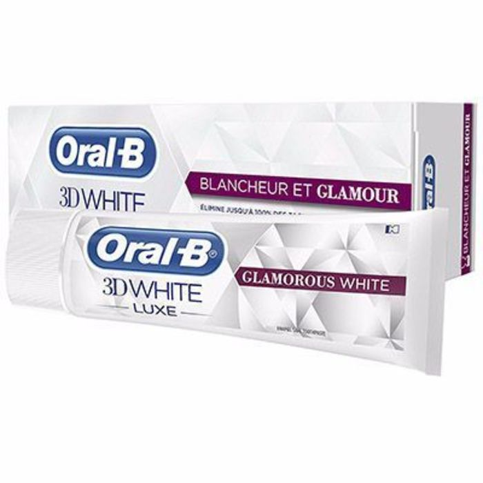 Oral b 3d white luxe blancheur et glamour dentifrice 75ml Oral b-215042