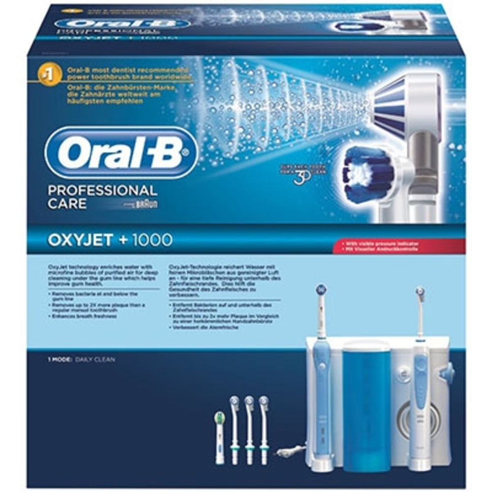 Oral-b combiné dentaire pro 1000 + oxyjet - oral-b -205045