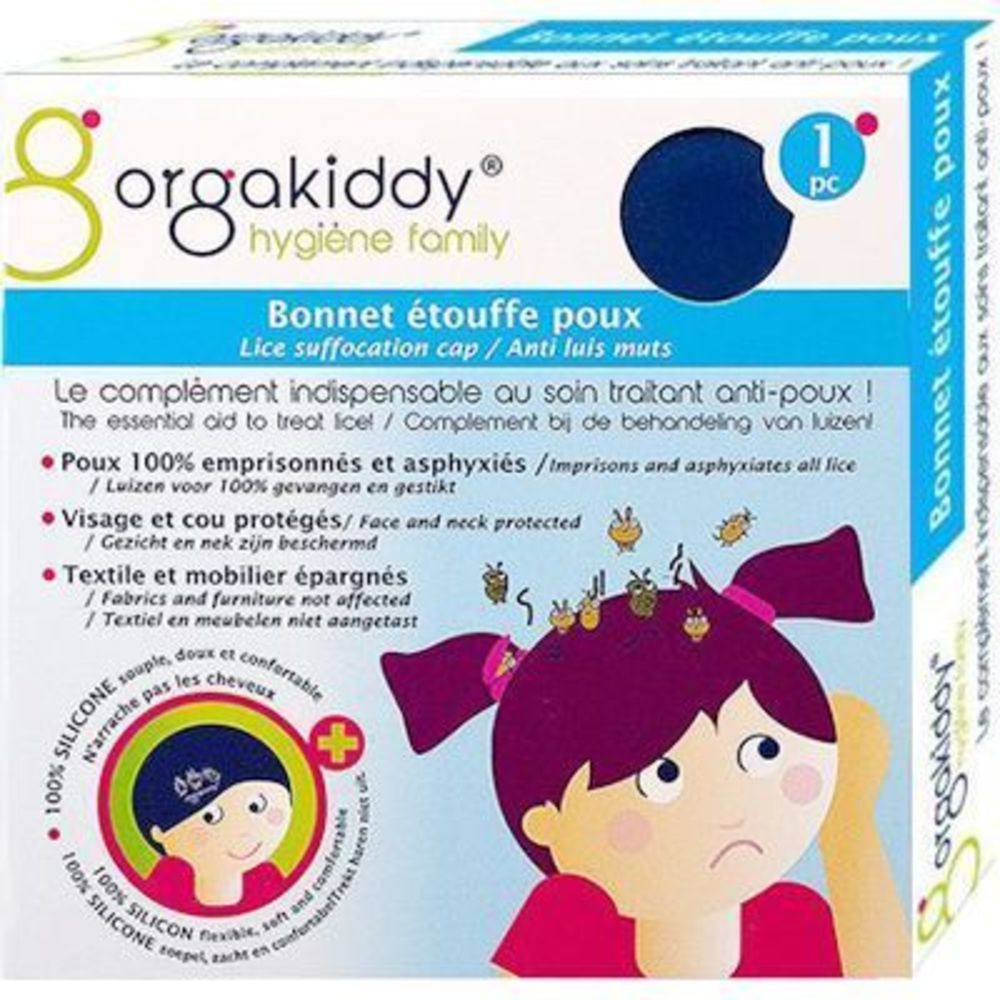 Orgakiddy bonnet etouffe poux bleu Orgakiddy-223754