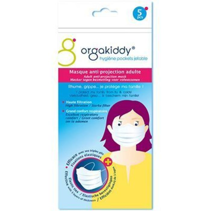 Orgakiddy masque anti-projection adulte x5 Orgakiddy-223751