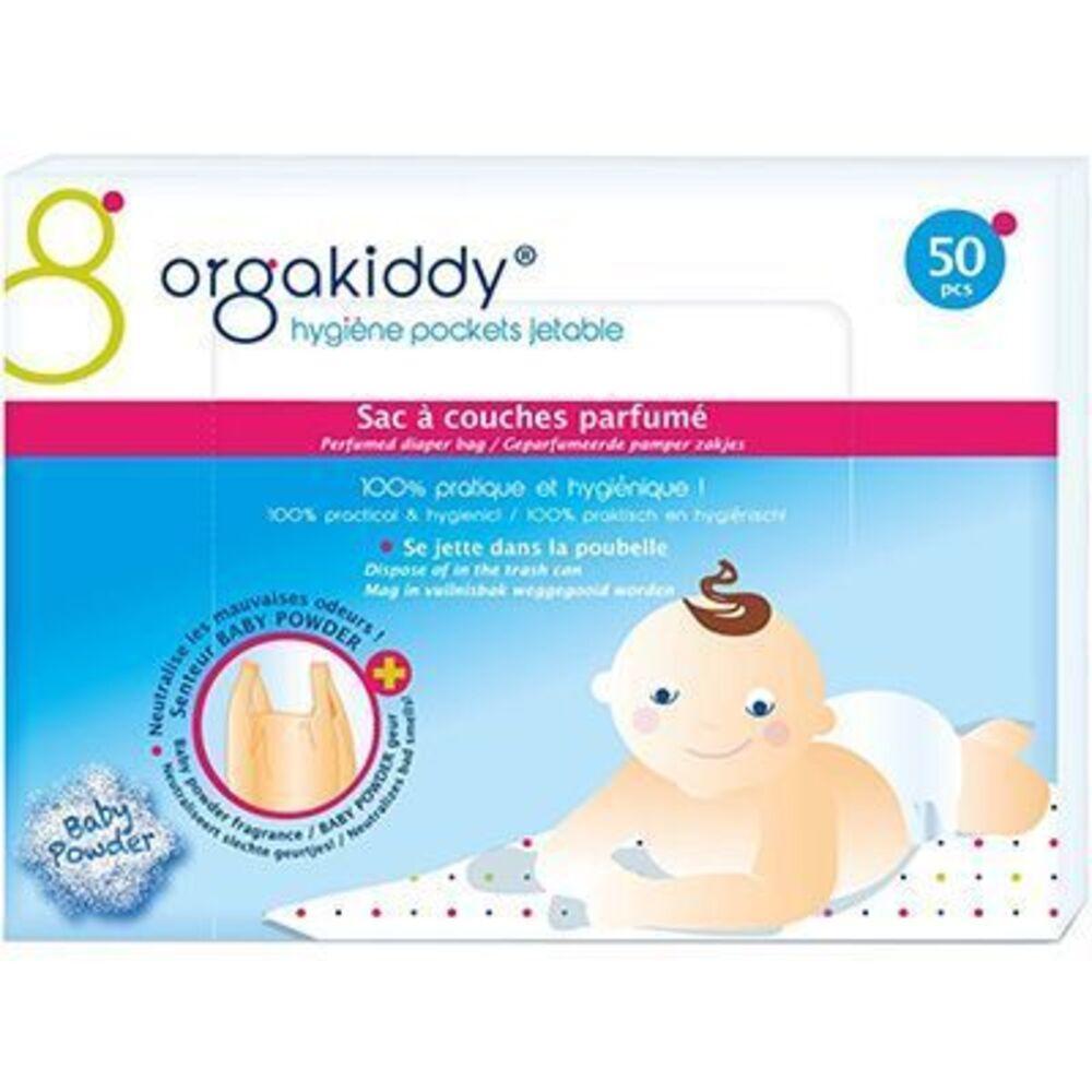 Orgakiddy sac à couches parfumé talc x50 - orgakiddy -223743