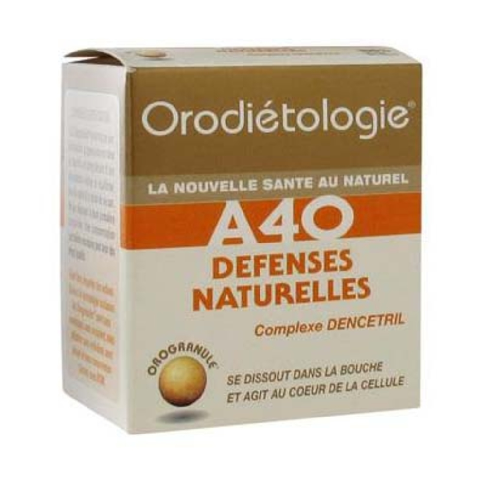 Orodiétologie a40 défenses naturelles 40 orogranules - zannini -197604