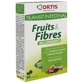 Ortis fruits & fibres ballonnement - 30 comprimés - ortis -205566