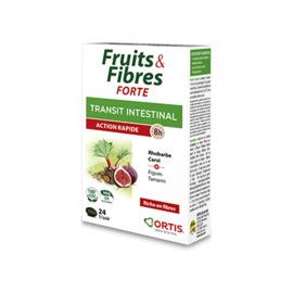 Ortis fruits & fibres forte transit intestinal action rapide 24 comprimés - ortis -225330